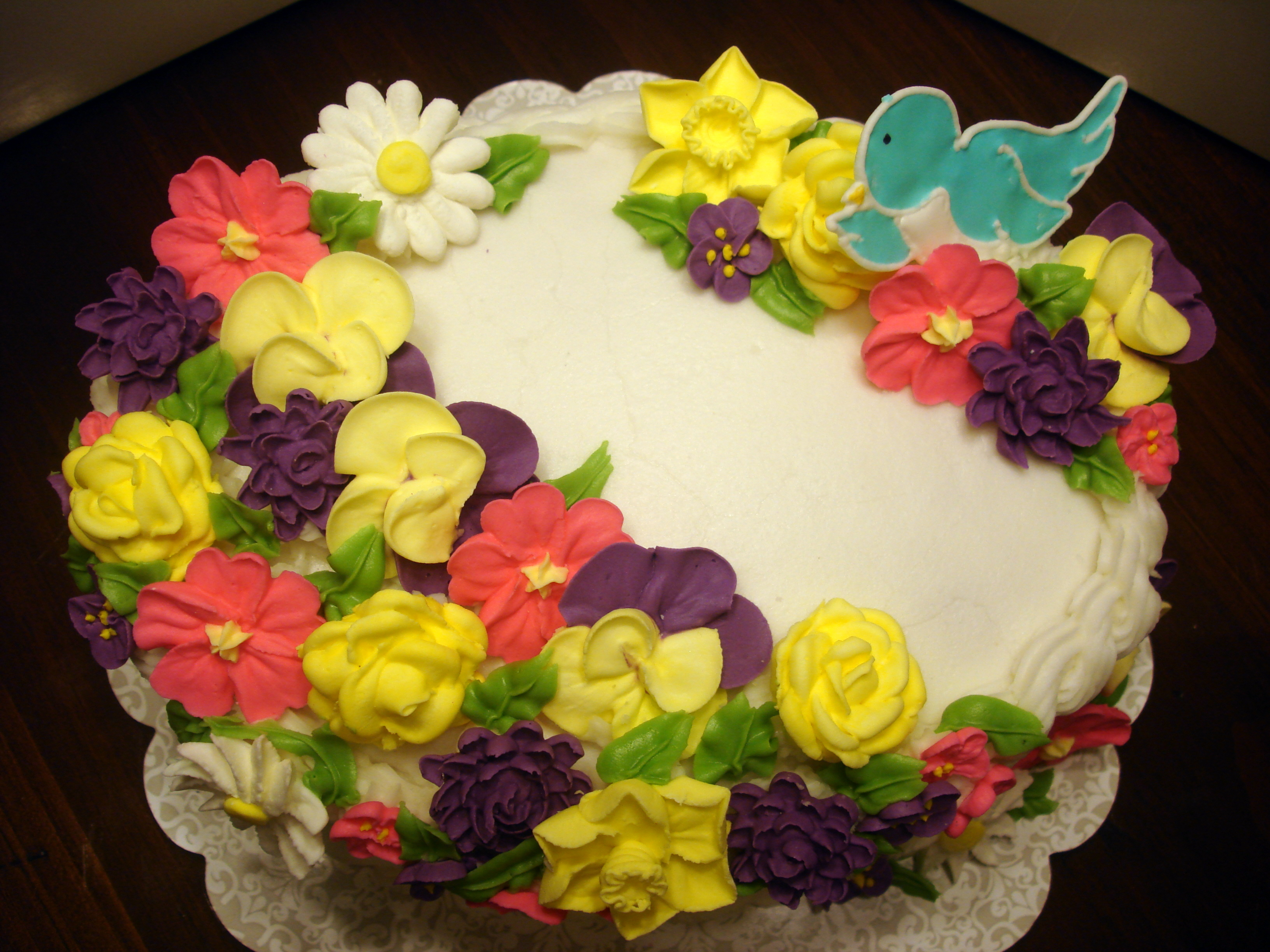 How To Make A Basket Of Flowers Cake : Flower basket cake ms tapioca