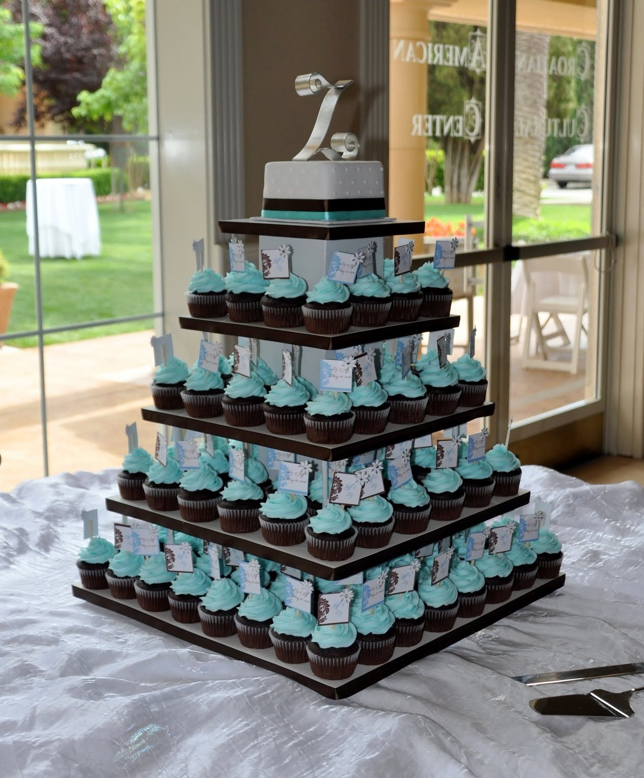 tiffany blue wedding cupcakes – ms Tapioca