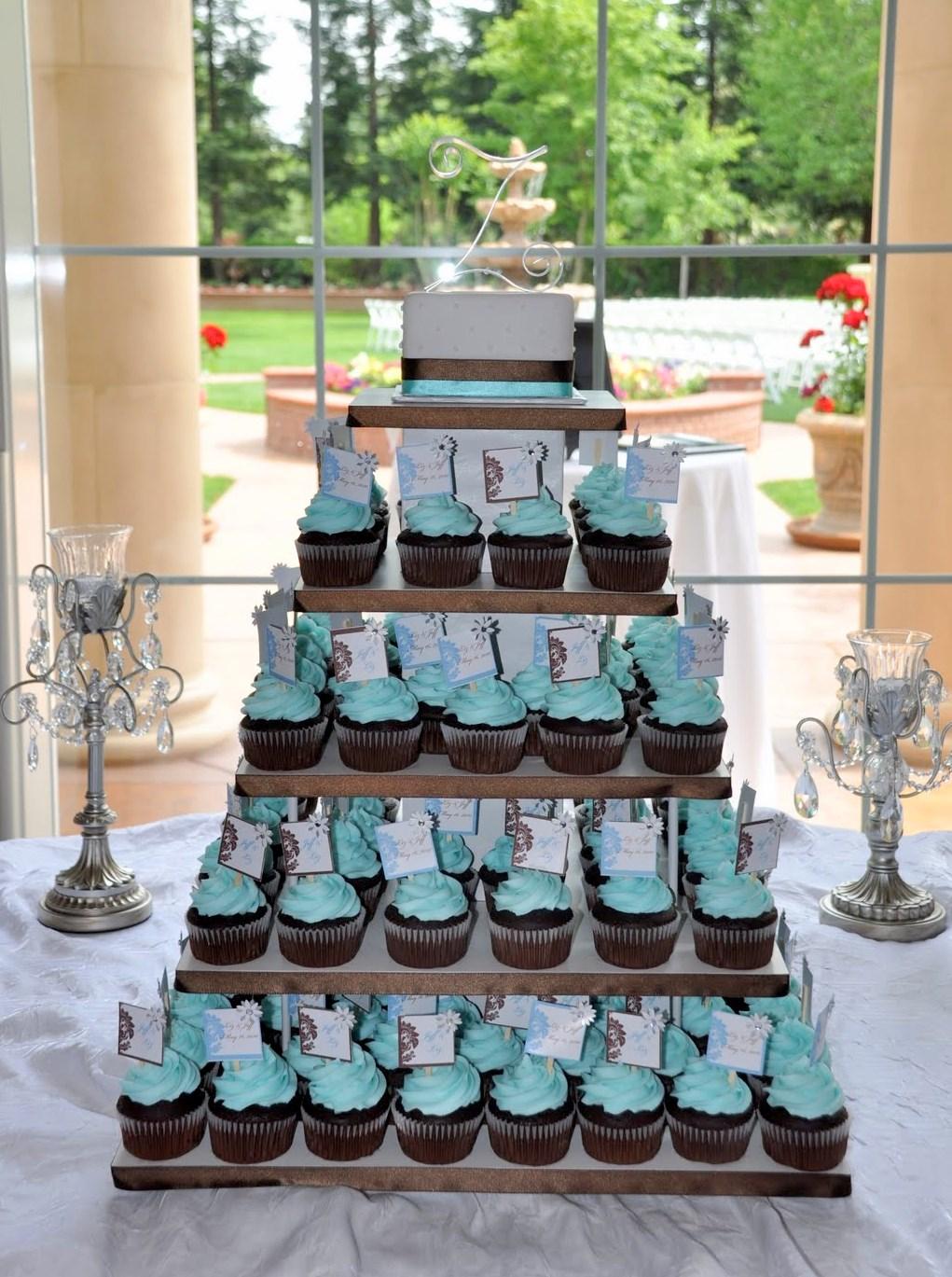 Tiffany Blue Wedding Cupcakes   ms.Tapioca