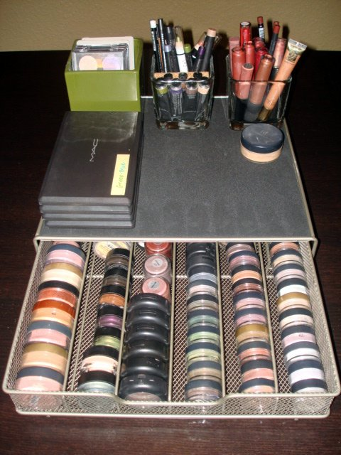It held all of my makeup and had enough drawers to keep everything  organized  The big problem was that I couldn t see everything  If I don t  see it. makeup organization   ms Tapioca