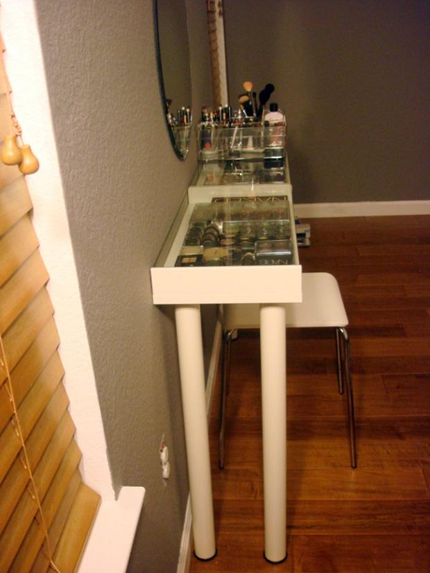 vanity table small space. vanity03 DIY Ikea Makeup Vanity  ms Tapioca