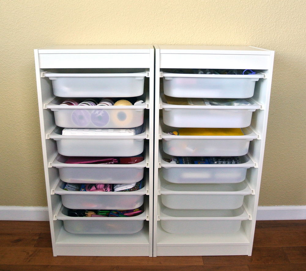 Ikea Hochschrank Wohnzimmer ~ used two Trofast frame units and twelve Trofast storage boxes